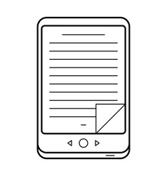 E-book line art simple gadget icon vector