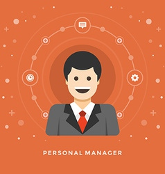 Flat design business concept Personal Manage vector
