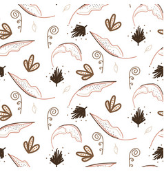 floral seamless pattern with plants and branches vector image