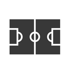 Football field or pitch soccer related solid icon vector