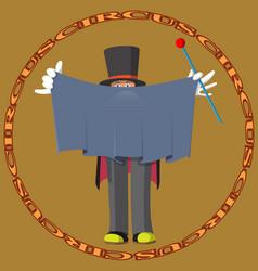 funny cartoon circus magician vector image