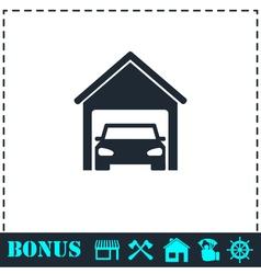 Garage car icon flat vector image
