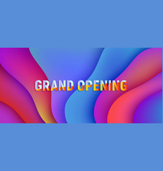 grand opening banner for business fluid pink vector image