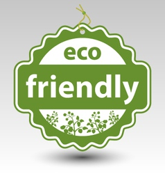Green eco friendly stamp tag label vector