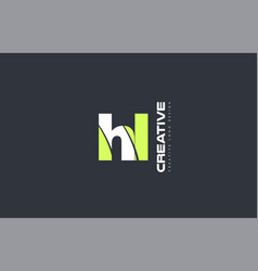 Green letter hl h l combination logo icon company vector