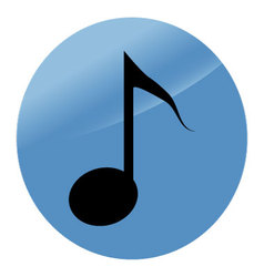 Icon note flat modern music style vector