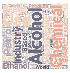 Is ethanol the alternative fuel text background vector