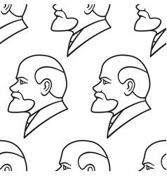 lenin contour pattern vector image