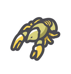 lobster with two claws icon cartoon vector image
