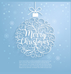 Merry christmas paper cut art vector