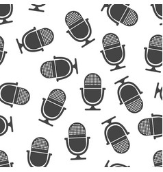 microphone seamless pattern business concept vector image