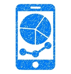 Mobile Graphs Grainy Texture Icon vector image