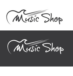 music shop design template vector image