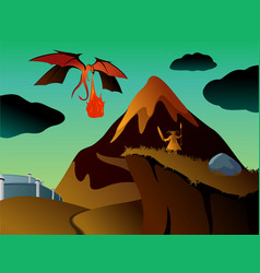 Mystical fantasy landscape vector