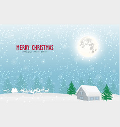 nature landscape and concept santa claus and vector image