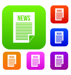 news newspaper set collection vector image