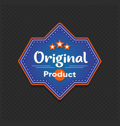 original product sticker retail tag vector image