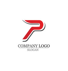 P logo letter business corporate design vector