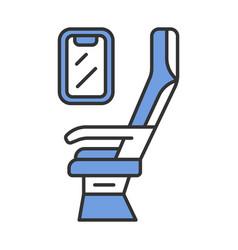Passenger seat color icon vector