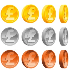pound coins vector image