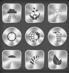 rain plant in hands flower shop recycle symbol vector image vector image