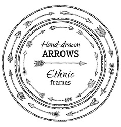 Round frames of ethnic arrows vector image