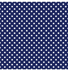 Seamless white polka dots navy blue background vector