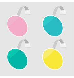set round wobblers empty template flat design vector image