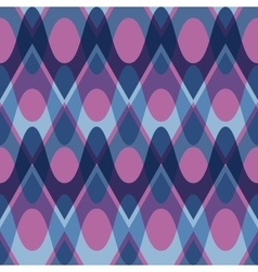Simple purple blue scalloped seamless pattern vector image