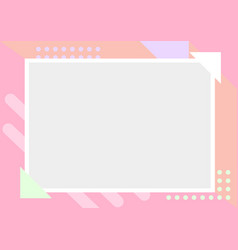simple solid and pastel color geometric pattern vector image