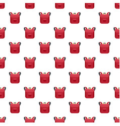 small backpack pattern seamless vector image