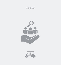 staff recruitment service - minimal icon vector image