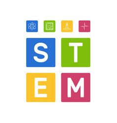Stem - science and math concept vector