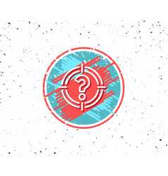 target with question mark line icon vector image