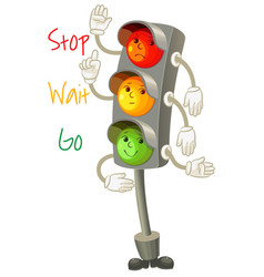 Traffic light follow the rules of the road vector