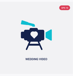 two color wedding video icon from birthday party vector image