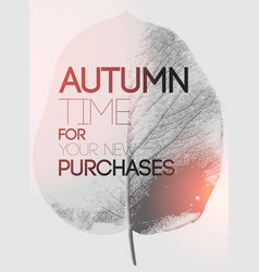 typographical poster for autumn sales vector image