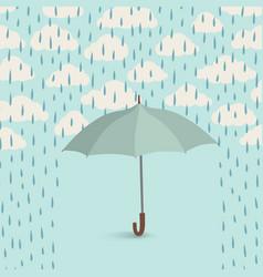 Umbrella over rain cloudy sky clouds pattern fall vector