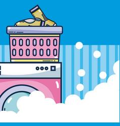 Washer machine laundry vector