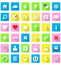 Web icon flat style on rectangle vector
