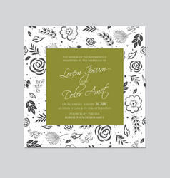 wedding invitation floral card seamless background vector image
