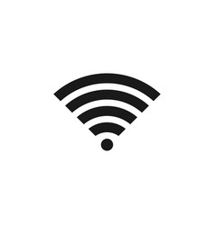 wifi icon design template isolated vector image