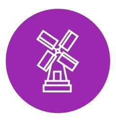 Windmill line icon vector