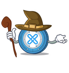 Witch gxshares coin mascot cartoon vector
