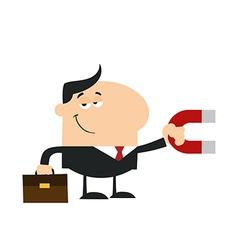 Businessman Attracting Money vector image