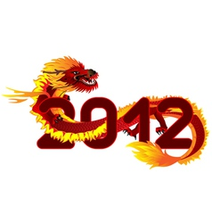 dragon 2012 vector image