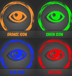 Eye icon Fashionable modern style In the orange vector image