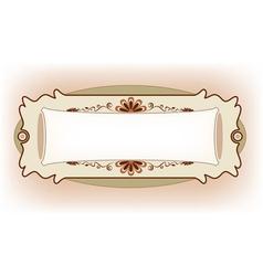 Vintage Frame Design For Greeting Card vector image vector image