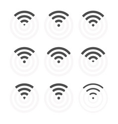 Wireless signs set wifi icons vector