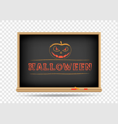blackboard halloween drawing vector image vector image